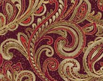 Chickadees & Berries -Red Golden Scroll w/Metallic 4746MB-10