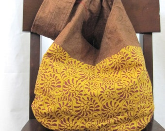 Crossbody hobo bag, sling bag, cloth bag, browns