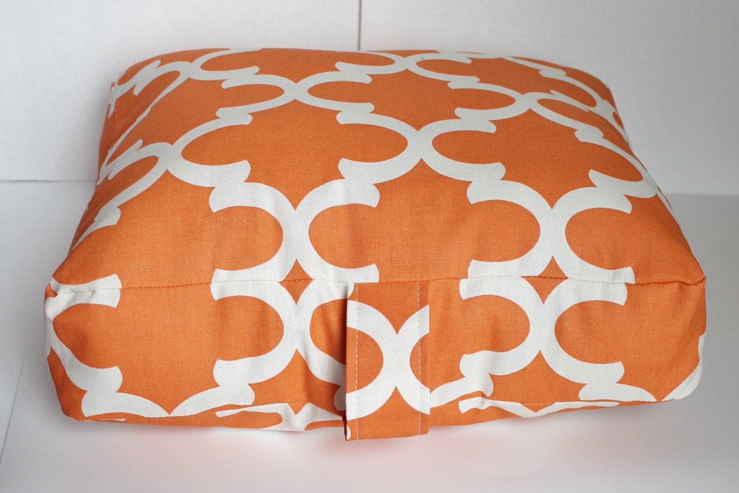 Orange Floor Pillows : 17x15x4 Floor Pillow Cushion Pouf. Burnt Orange and by Henhat