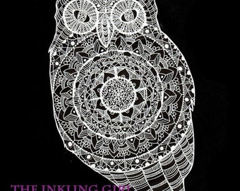Lace Owl Original Art