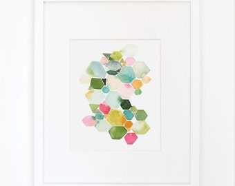 Gems in Summer- Watercolor Art Print