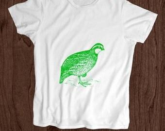 Toddler Shirt - Screen Printed Kids T Shirt -100% Cotton- Bobwhite Quail-
