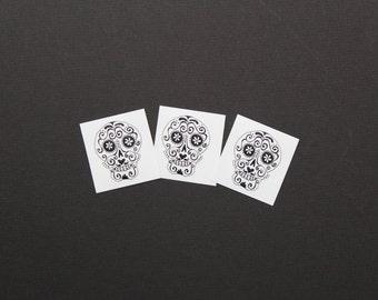Day of the Dead Sugar Skull temporary tattoo. #99