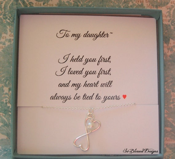 For My DAUGHTER Necklace, To Daughter, From Mom