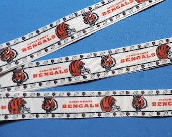 Cincinnati Bengals ribbon - 1 yard
