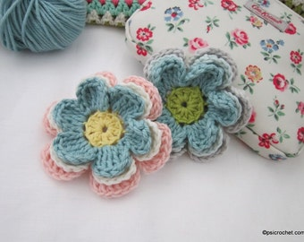 Layered Daisy Crochet Pattern Tutorial PDF