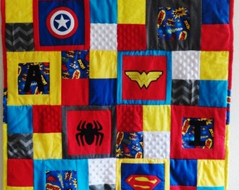 Personalized Super Hero Baby Blanket
