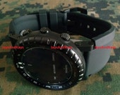 JaysAndKays® Suunto Core Bell & Ross Homage™ Strap Band and Adapters Kit with PVD Buckle and Lugs