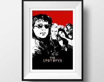 Lost Boys - Kiefer Sutherland- Movie Poster - Graphic Illustration 6x4 - Art Print