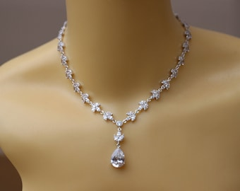 crystal bridal necklace wedding jewelry wedding necklace bridal jewelry