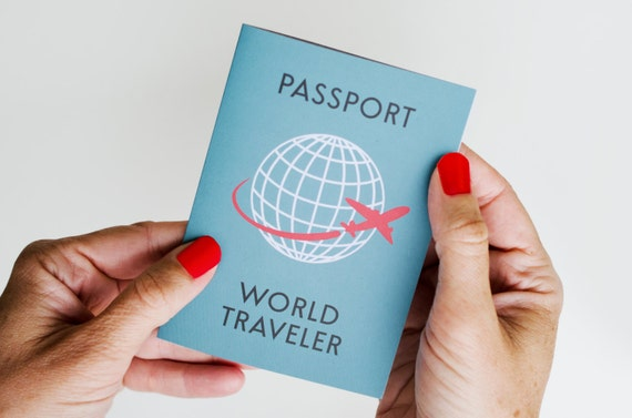 World traveler passport invitation airplane birthday plane il570xn filmwisefo