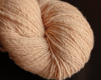 Handspun Organic Cotton Yarn - Natural Brown - 2 ply