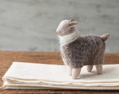 unknown animal #52 - Little woodland animal - Clay sculpture - forest animal totem - home decor  - Miniature Animals