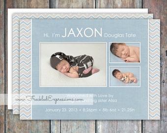 Baby Boy Birth Announcement - Jaxon