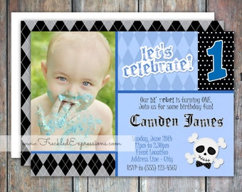 Lil Rockstar Rebel Birthday Invitation