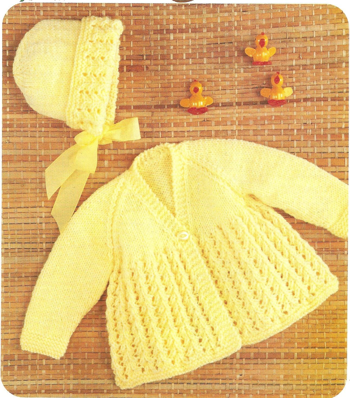 Baby Matinee Coat Knitting Patterns : Pdf knitting pattern baby s matinee coat and bonnet dk