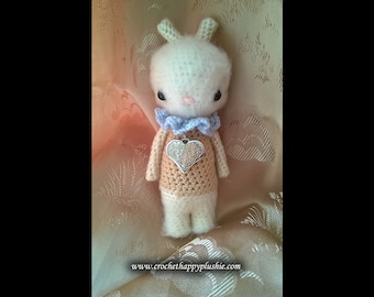 Furry realistic crochet bunny // amigurumi rabbit // fantasy kids toy doll // home decoration // love heart // cute