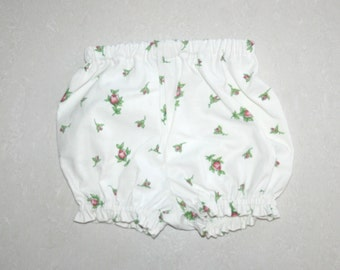BABY GIRLS Bloomers Nappy Cover Shorts || Floral Print fabric Upcycled Vintage Sheeting Diaper Cover Size NB-2Yrs made to order