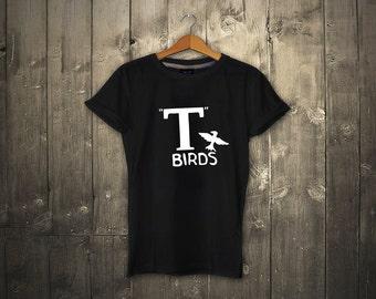 T Birds T-shirt Grease Black Jacket T-bird John Travolta