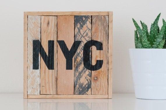 """6""""x6"""" NYC Stark & Steel Series #117    Modern Reclaimed Artworks"""