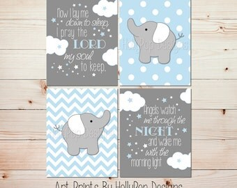 Nursery decor Nursery wall art Blue gray Baby boy wall art Boy quotes Kids decor Boys room decor Boy elephant art Boy nursery art #1313