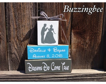 Cinderella Wedding blocks-Dreams Do Come True Personalized wedding blocks