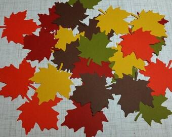 25 Die cut Leaves.   #MA-17