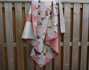 Quilt - Lap Quilt - Picnic Quilt - Blanket - Wheelchair Quilt - Baby Quilt - Toddler Quilt - Patchwork Quilt - Bed Quilt - Linen Quilt