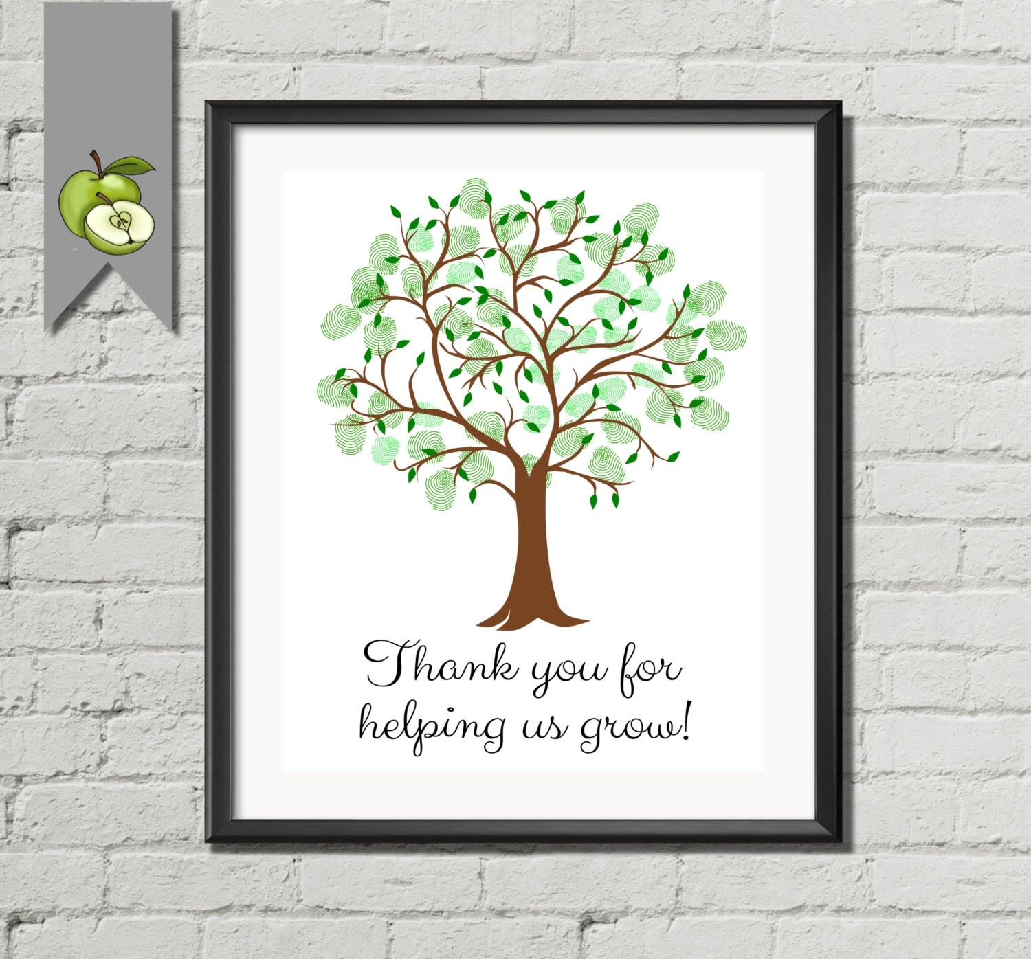 It is a picture of Gratifying Thank You for Helping Us Grow Printable