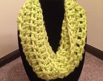 Handmade Crochet Cowl Lime Green