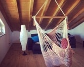Hanging Chair Extra | Extension (6.5 ft) | Caribbean Style | Cloud-like Comfort | Washable | Redbrick & Cream