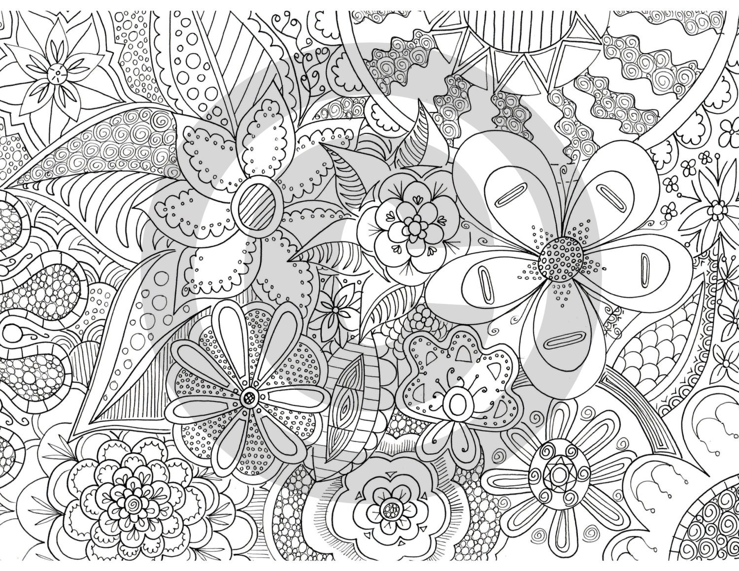 Coloring Pages For Zen : The Fleurs of Zen Coloring Page
