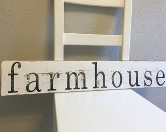 Made to Order Rustic Wooden farmhouse Sign - Farmhouse Decor - Wall Art - Vintage Style Signs - Distressed Signs - Wooden Signs