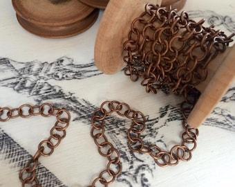 Chain 6.5 mm old copper tone 46 cm