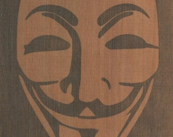 Anonymous. B/W print on wood.