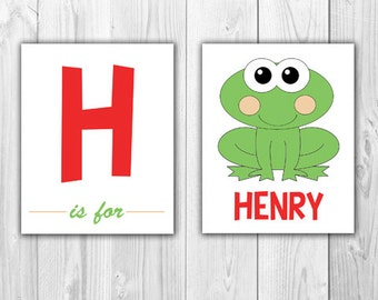 Baby Room Wall Art |  Letter and Frog (Print at Home)