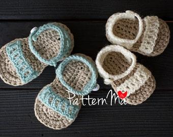 CROCHET PATTERN Baby girl sandals Instant Download - Crochet pattern 33