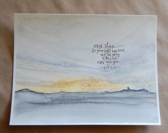 "illustration + painting print ""arise & shine"""