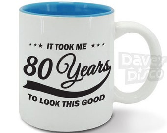 80th Wedding Anniversary Gift Ideas : ... cup 80th birthday gift vintage boyfriend girlfriend gift idea m0126