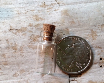Glass Vial with cork tops