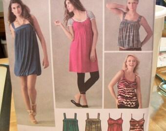 Simplicity 3882 Misses (D5 4,6,8,10,12) knit dresses or tops