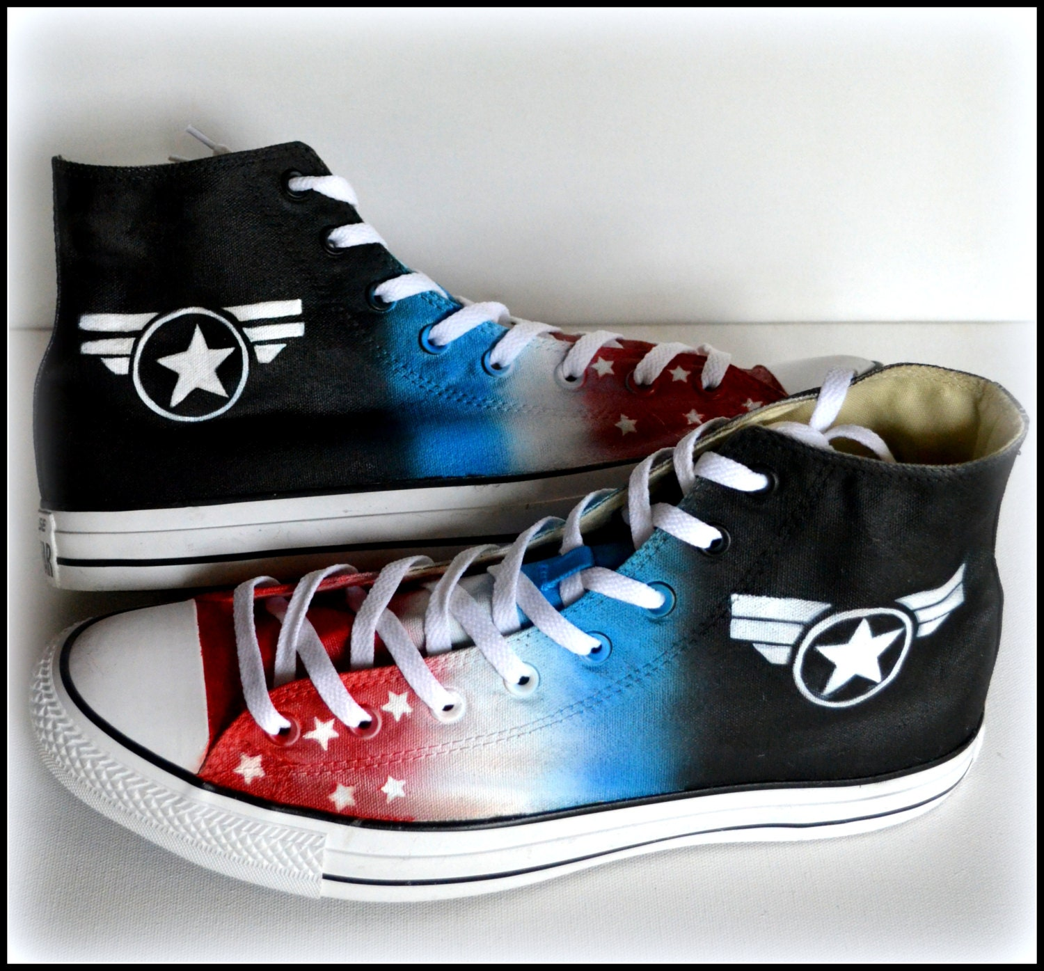Walking dead converse shoes for sale - Mens Military Shoes Mens America Shoes Custom Made Superhero Shoes Painted Converse