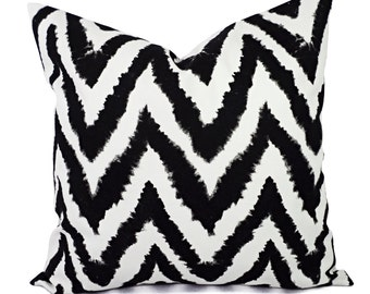 Decorative Pillow Covers - Two Black Chevron Throw Pillows - Chevron Pillow Cover - Accent Pillow - 12x16 12x18 14x14 16x16 18x18 20x20