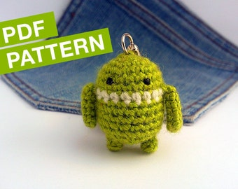 Android robot CROCHET PATTERN -  Instant Download. Amigurumi android Pattern.