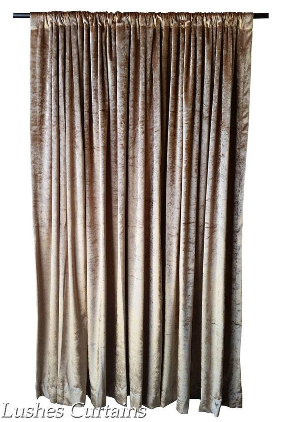 gold 96 inch high velvet curtain long panels custom made. Black Bedroom Furniture Sets. Home Design Ideas