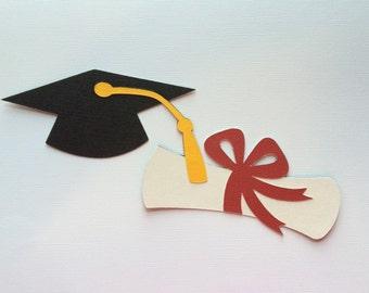 Graduation Cap & Diploma Paper Piecing