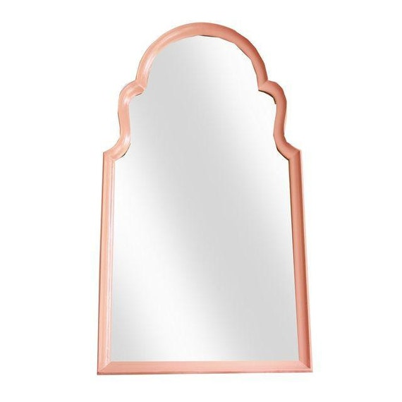 Large La Barge Coral Wall Mirror Hollywood Regency Mirror