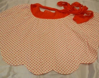 Vintage Red Polka Dot Apron