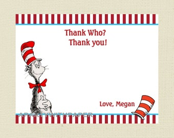 Dr SUESS  Thank You Cards