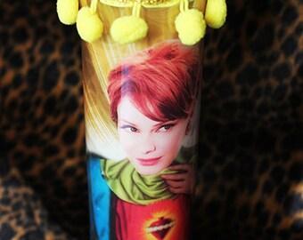 Joan Holloway (Christina Hendricks) Mad Men Kitschy Kandle - Prayer Candle